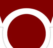 Irken Invader Symbol (Red) Sticker