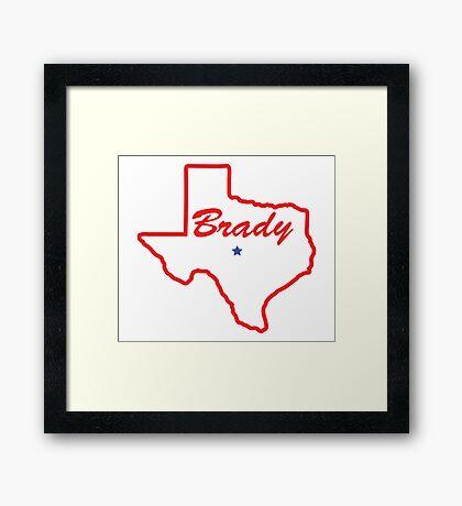 Brady Texas Framed Print