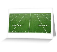 Football Field Hash Marks Greeting Card