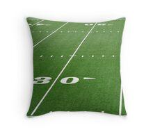 Football Field Hash Marks Throw Pillow