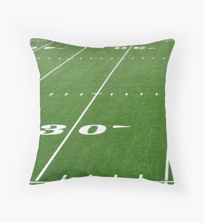 Football Field Hash Marks Throw Pillow