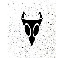 Irken Military Symbol (Black) Photographic Print