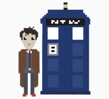10th doctor and tardis by bluewardrobe