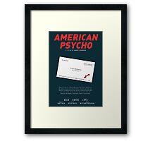 American Psycho - Bateman's blood-smeared business card Framed Print