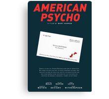 American Psycho - Bateman's blood-smeared business card Canvas Print