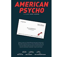 American Psycho - Bateman's blood-smeared business card Photographic Print