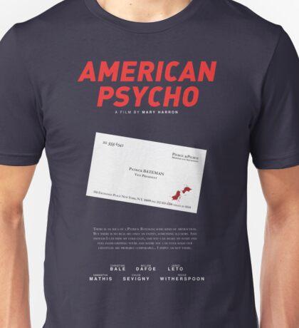 American Psycho - Bateman's blood-smeared business card Unisex T-Shirt