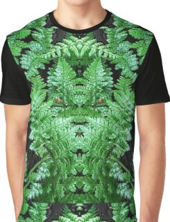 Fern with green man face hidden Graphic T-Shirt