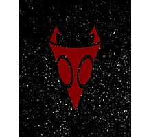 Irken Military Symbol (Red) Photographic Print
