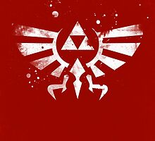 Legend of Zelda Hyrule Crest Red by dylanwest2010