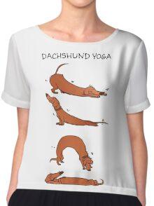 Dachshund Yoga Chiffon Top