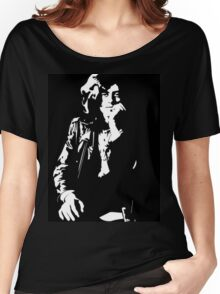 jimmy page legend black and white decal Women's Relaxed Fit T-Shirt