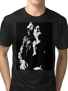 jimmy page legend black and white decal Tri-blend T-Shirt