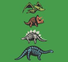 Fossil dinosaurs One Piece - Short Sleeve