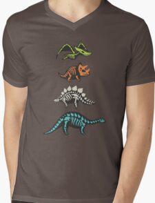 Fossil dinosaurs Mens V-Neck T-Shirt