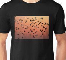 Flock f Birds at Sunset Unisex T-Shirt