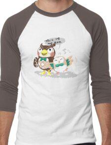 Blathers & Rowlet Men's Baseball ¾ T-Shirt