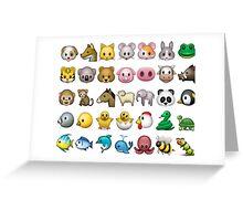 Animal Emoji Collage Greeting Card