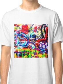 Gritty Crazy Graffiti Classic T-Shirt