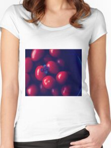 cherry tomatoes Women's Fitted Scoop T-Shirt