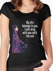 Kirito Couple quote Women's Fitted Scoop T-Shirt