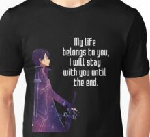Kirito Couple quote Unisex T-Shirt