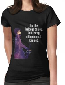Kirito Couple quote Womens Fitted T-Shirt