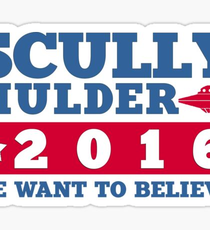 Scully & Mulder Campaign 2016 Sticker