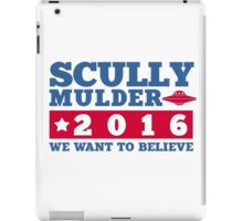Scully & Mulder Campaign 2016 iPad Case/Skin