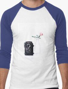 vintage rose Men's Baseball ¾ T-Shirt