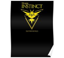 Instinct - Pokemon GO! Team Instinct as Game of Thrones Sigil Banner Poster