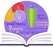 Mathematics Emblem Photographic Print