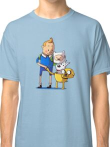The Adventure Time of Tintin Classic T-Shirt