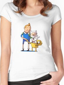 The Adventure Time of Tintin Women's Fitted Scoop T-Shirt