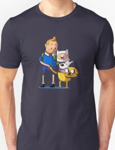 The Adventure Time of Tintin Unisex T-Shirt
