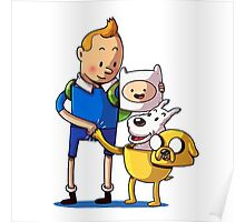 The Adventure Time of Tintin Poster