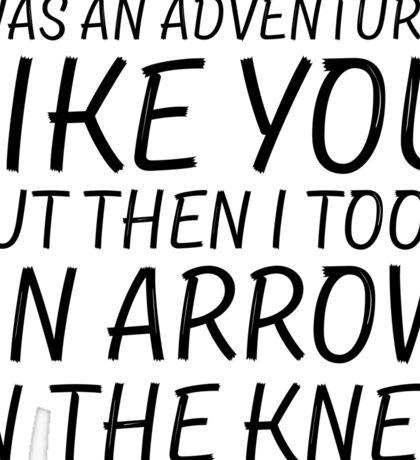 Elder Scrolls Skyrim Funny Quote Arrow To The Knee Sticker
