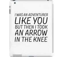 Elder Scrolls Skyrim Funny Quote Arrow To The Knee iPad Case/Skin