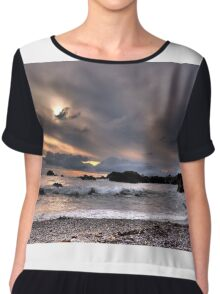 Oregon beaches Chiffon Top