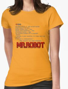 Terminal Code Mr.Robot Womens Fitted T-Shirt