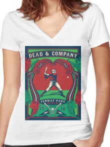 DEAD AND COMPANY SUMMER TOUR 2016 FENWAY PARK BOSTON ,MA Women's Fitted V-Neck T-Shirt