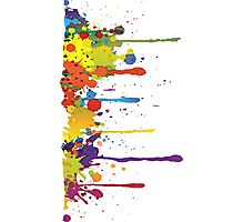 Crazy multicolored running SPLASHES vertical Photographic Print