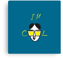 I m Cool Cartoon Vector Funny Design Canvas Print