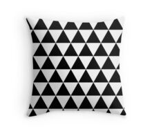 Triangle Pattern - Black & White Throw Pillow