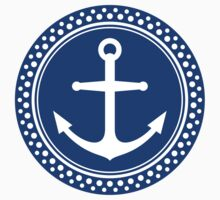 Dark blue anchor emblem by Mhea