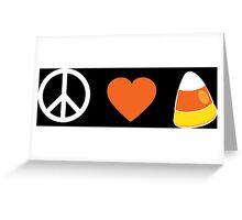 Peace Love Candy Corn Greeting Card