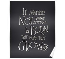 It matters not what someone is born Poster