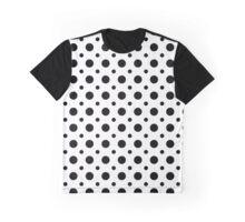 Polka Dot Pattern - Black on White Graphic T-Shirt