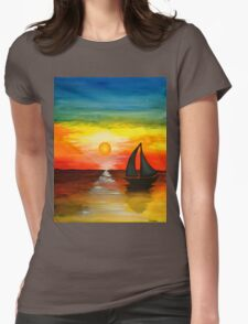 Tequila Sunset Womens Fitted T-Shirt