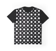 Polka Dot Pattern - White on Black Graphic T-Shirt